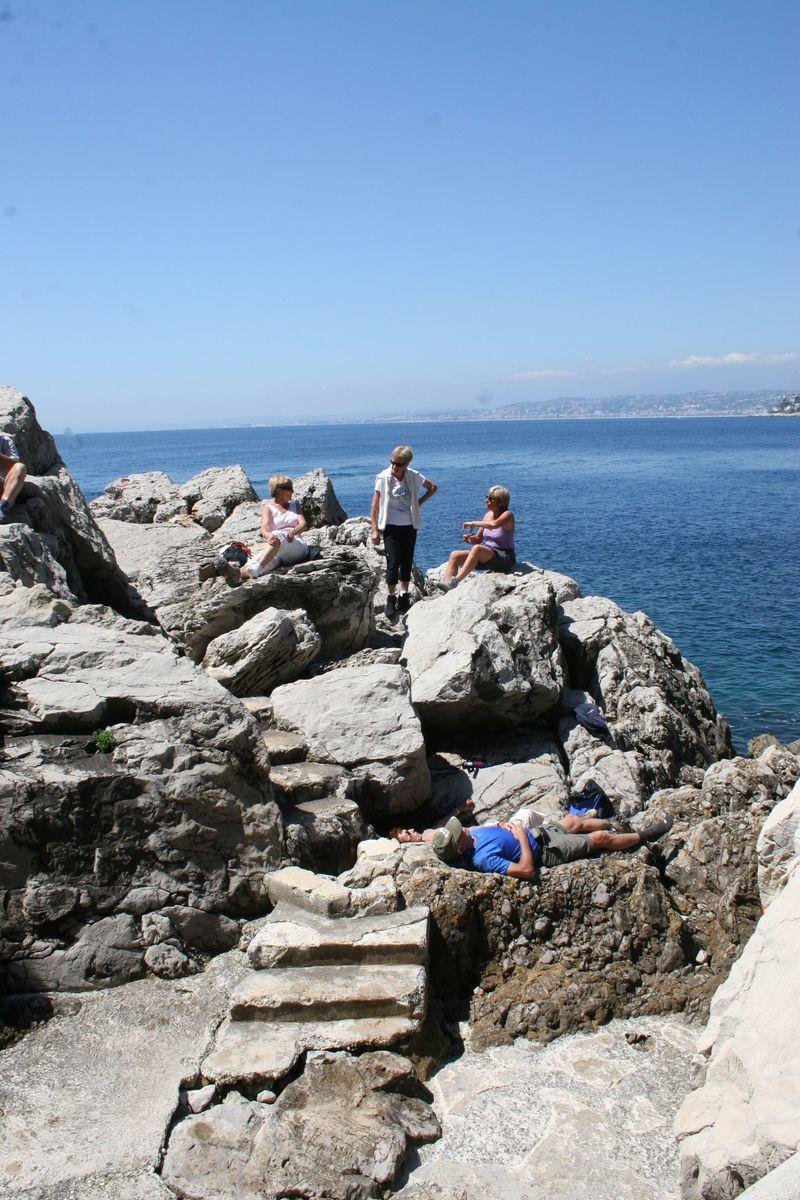 Pausing at Cap Ferrat Sentier du Littoral