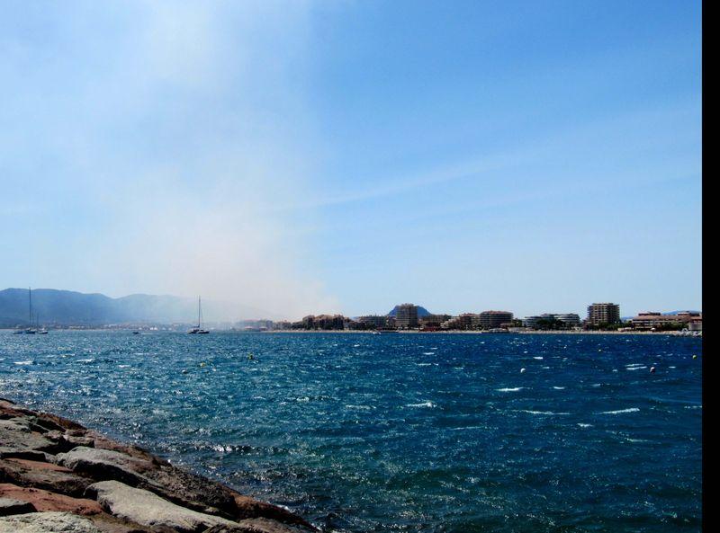 Fire by Roquebrune-sur-Argens