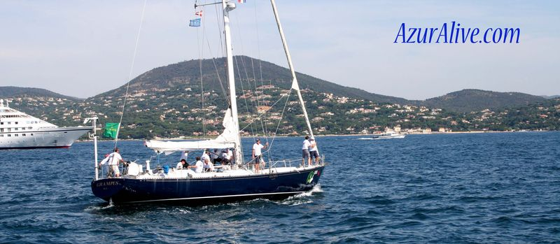 Sailing around St Tropez