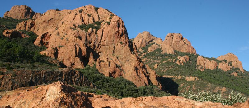 Views of Esterel from the Corniche de l'Esterel