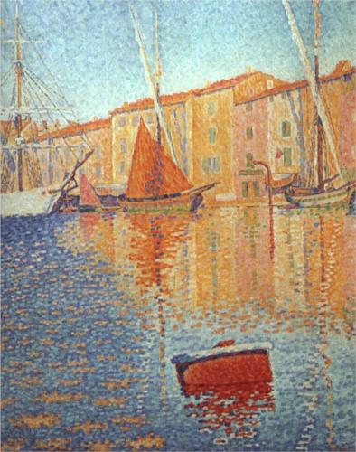 Red Buoy Of St Tropez by Paul Signac