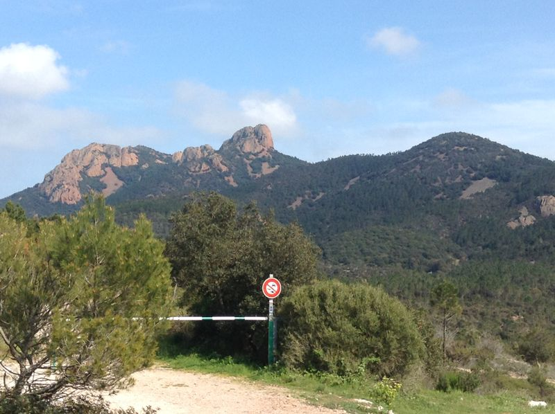 Hiking trails of the Esterel, on the French Riviera