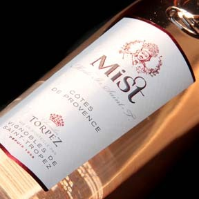 Photo of Mist St Tropez bottle, from Les Vignobles de Saint-Tropez