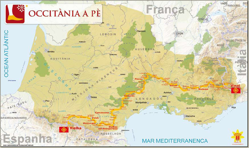 Hiking Across Occitania Azuralive: Map Of Northern Spain And Southern France At Infoasik.co