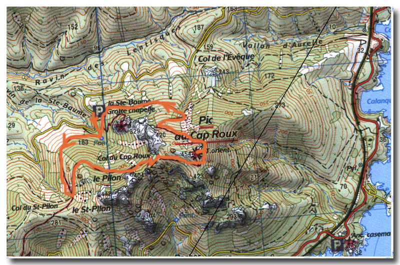 Cap Roux Map